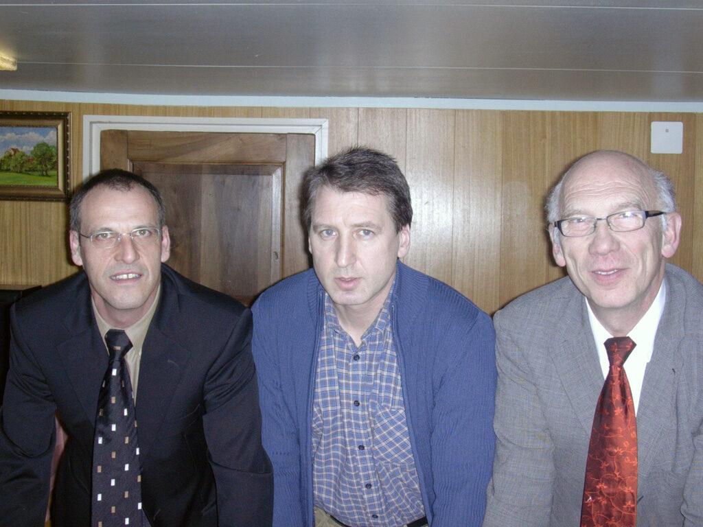Von links nach rechts die nominierten Gemeinderäte: Peter Schmid, Ruedi Beeler, Peter Probst
