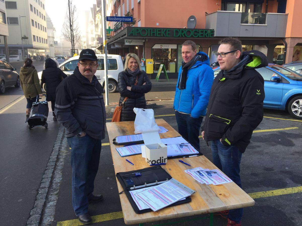 Sammelaktion der SVP Arth-Oberarth Goldau