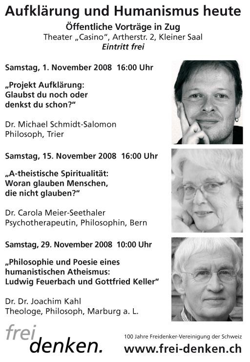 Vortragsreihe Freidenker Zentralschweiz: Aufklärung und Humanismus heute