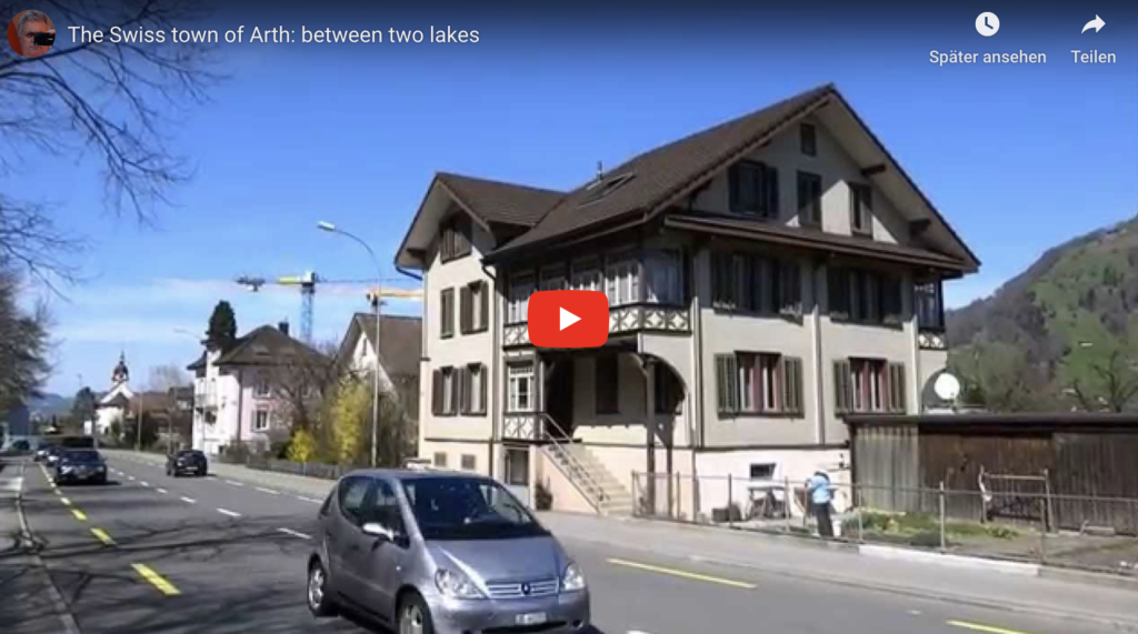 The Swiss town of Arth: between two lakes