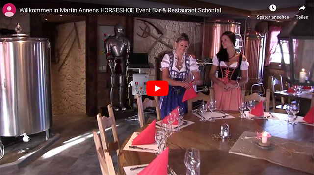 Willkommen in Martin Annens Horseshoe Event Bar & Restaurant Schöntal