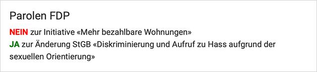 FDP-Parolen für den 9. Februar