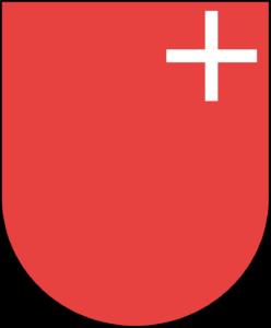 Zeigen Sie Flagge für den Kanton Schwyz